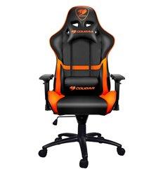 Кресло COUGAR ARMOR Black-Orange компьютерное игровое, экокожа, цвет черный/оранжевый