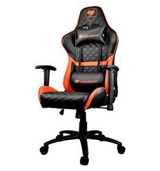 Кресло COUGAR ARMOR One Black-Orange компьютерное игровое, экокожа, цвет черный/оранжевый