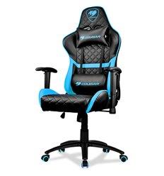 Кресло COUGAR ARMOR One Sky Blue компьютерное игровое, экокожа, цвет черный/голубой