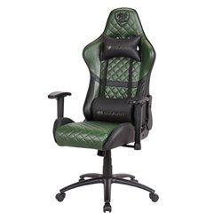Кресло COUGAR ARMOR One X компьютерное игровое, экокожа, цвет черный/зеленый