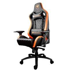 Кресло COUGAR ARMOR S Black-Orange компьютерное игровое, экокожа, цвет черный/оранжевый