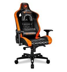 Кресло COUGAR ARMOR Titan Black-Orange компьютерное игровое, экокожа, цвет черный/оранжевый