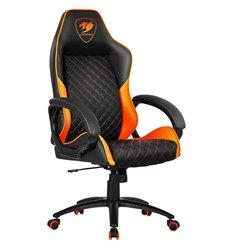 Кресло COUGAR ARMOR Fusion Black-Orange компьютерное игровое, экокожа, цвет черный/оранжевый