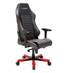 Кресло DXRacer OH/IS188/NR Iron Series, компьютерное, натуральная кожа, цвет черный/красный