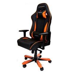 Кресло DXRacer OH/KS57/NO King Series, компьютерное, экокожа, цвет черный/оранжевый