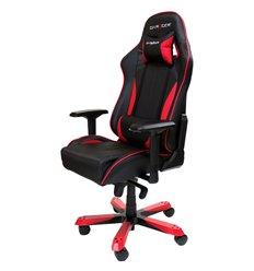 Кресло DXRacer OH/KS57/NR King Series, компьютерное, экокожа, цвет черный/красный