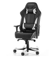 Кресло DXRacer OH/KS57/NW King Series, компьютерное, экокожа, цвет черный/белый