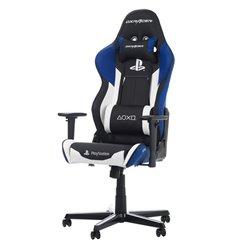Кресло DXRacer OH/RZ90/INW PlayStation Racing Series, компьютерное, экокожа, цвет черный/белый/синий