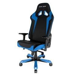 Кресло DXRacer OH/SJ00/NB Sentinel Series, компьютерное, экокожа, цвет черный/синий