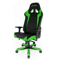 Кресло DXRacer OH/SJ00/NE Sentinel Series, компьютерное, экокожа, цвет черный/зеленый
