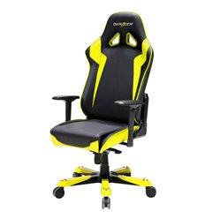 Кресло DXRacer OH/SJ00/NY Sentinel Series, компьютерное, экокожа, цвет черный/желтый