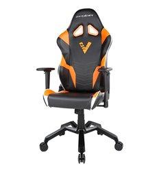 Кресло DXRacer OH/VB15/NOW Virtus Pro Valkyrie Series, компьютерное, экокожа, цвет черный/оранжевый/белый