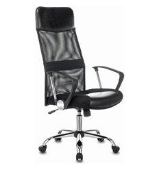 Кресло Бюрократ CH-600SL/LUX/BLACK для руководителя, хром, экокожа/сетка/ткань, цвет черный