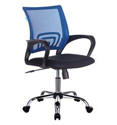 Кресло Бюрократ CH-695N/SL/BL/TW-11 для оператора, хром, цвет синий/черный, спинка сетка