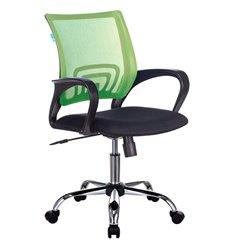 Кресло Бюрократ CH-695N/SL/SD/TW-11 для оператора, хром, цвет салатовый/черный, спинка сетка