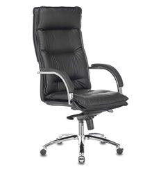 Кресло Бюрократ T-9927SL/BLACK для руководителя, хром, кожа, цвет черный
