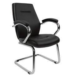 Кресло CHAIRMAN 495 для посетителя, экокожа, цвет черный