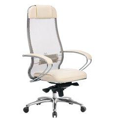 Кресло Samurai SL-1.04 бежевый для руководителя, сетчатая спинка