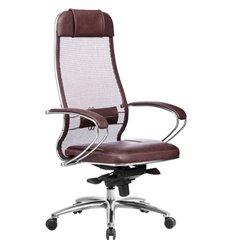 Кресло Samurai SL-1.04 темно-бордовый для руководителя, сетчатая спинка