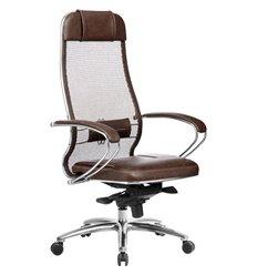 Кресло Samurai SL-1.04 темно-коричневый для руководителя, сетчатая спинка