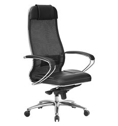 Кресло Samurai SL-1.04 черный плюс для руководителя, сетчатая спинка