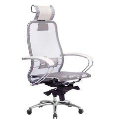 Кресло Samurai S-2.04 белый лебедь для руководителя, сетка