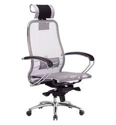 Кресло Samurai S-2.04 серый для руководителя, сетка
