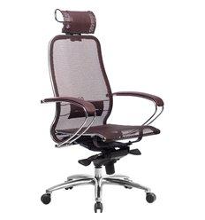 Кресло Samurai S-2.04 темно-бордовый для руководителя, сетка