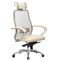 Кресло Samurai SL-2.04 бежевый для руководителя, сетчатая спинка