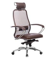 Кресло Samurai SL-2.04 темно-коричневый для руководителя, сетчатая спинка