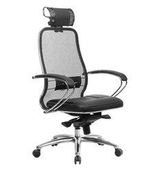 Кресло Samurai SL-2.04 черный для руководителя, сетчатая спинка