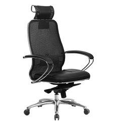 Кресло Samurai SL-2.04 черный плюс для руководителя, сетчатая спинка