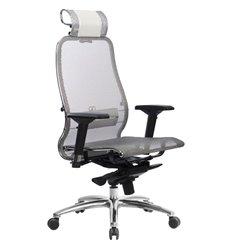 Кресло Samurai S-3.04 белый лебедь для руководителя, сетка