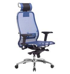 Кресло Samurai S-3.04 синий для руководителя, сетка