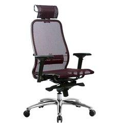 Кресло Samurai S-3.04 темно-бордовый для руководителя, сетка