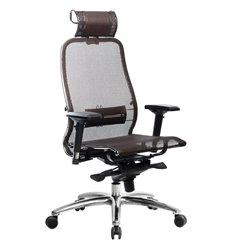Кресло Samurai S-3.04 темно-коричневый для руководителя, сетка