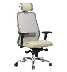 Кресло Samurai SL-3.04 бежевый для руководителя, сетчатая спинка