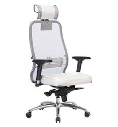 Кресло Samurai SL-3.04 белый лебедь для руководителя, сетчатая спинка