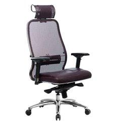 Кресло Samurai SL-3.04 темно-бордовый для руководителя, сетчатая спинка