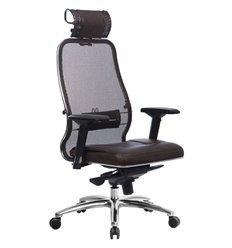 Кресло Samurai SL-3.04 темно-коричневый для руководителя, сетчатая спинка