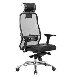 Кресло Samurai SL-3.04 черный для руководителя, сетчатая спинка