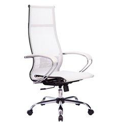 Кресло Метта Комплект 7 белый для руководителя, сетка