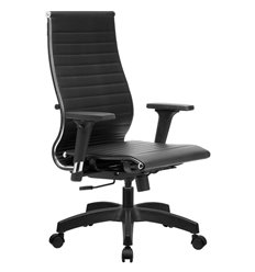 Кресло Метта Комплект 10/2D черный для руководителя, NewLeather