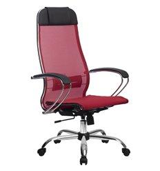 Кресло Метта Комплект 12 красный для руководителя, сетка