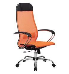 Кресло Метта Комплект 12 оранжевый для руководителя, сетка