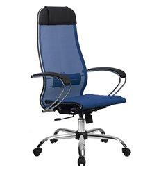 Кресло Метта Комплект 12 синий для руководителя, сетка