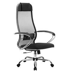 Кресло Метта Комплект 16 черный для руководителя, сетка/экокожа