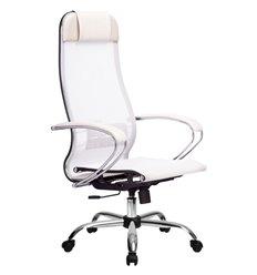 Кресло Метта Комплект 4 белый для руководителя, сетка
