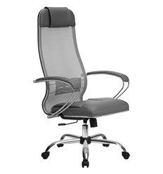 Кресло Метта Комплект 5 светло-серый для руководителя, сетка/NewLeather