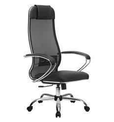 Кресло Метта Комплект 5.1 черный для руководителя, сетка/NewLeather